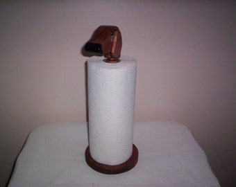 Dachshund paper towel holder table top handcrafted