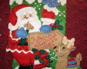Holiday Santa Stocking