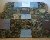 Custom Military Memory Blanket - Fatigue CAMO