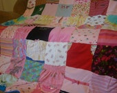 Child's Clothing Memory Blanket - t shirts, onesies, PJ's, clothing, ribbons, blankets (unlimited items & size)