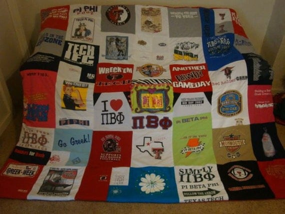 Custom Sorority T Shirt Memory Blanket College, Sports, Fraternity Unlimited Shirts & Size