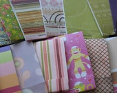 19 Sock Monkey party colorful matchbook paper pads