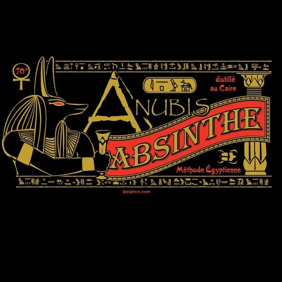 Anubis Absinthe silk screened unisex tshirt S-4XL