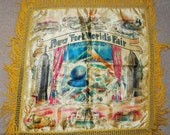 A FAB Vintage 1939 New York World's Fair Pillow Cover- Mint and Never Used