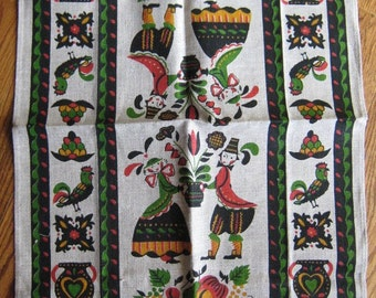 Vintage Kitchen Towel-Pennsylvania Dutch Things