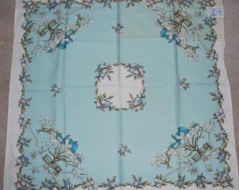 Vintage Kate Greenway Inspired Design Tablecloth Napkin  UNUSED NOS