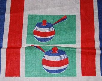 Vintage Mid Century Fondue Pots Kitchen Towel