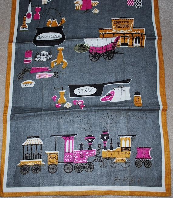 Vintage Out West Kitchen Towel -  Pat Prichard Design