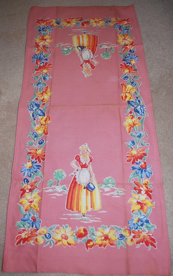 Vintage Kitchen Towel Springmaiden Never Used