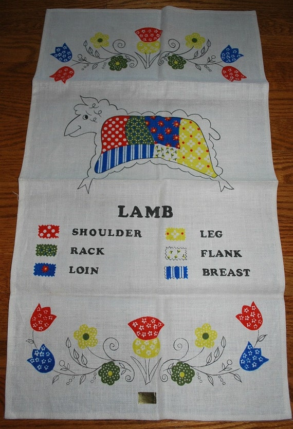 What Cut Do You Like - Vintage Lamb Kitchen Towel-
