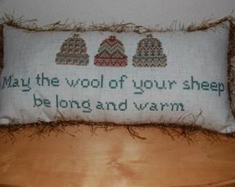 Winter Cross Stitch Pillow