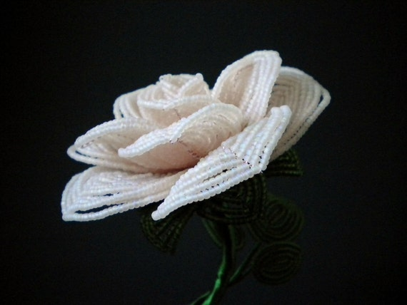Notes of Love - French Beaded Flower