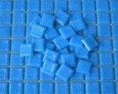 SALE - Italian Glass Turquoise Blue Mosaic Tiles - 25 pieces