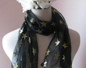 gold stars scarf