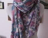Fleurs du mal vintage scarf