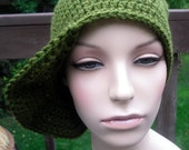earth friendly deep olive green men or womens  baseball brimmed hat
