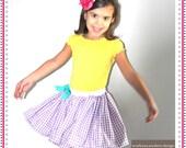 Ivy Skirt - Super Full Girls Gingham Skirt with Pockets - 6-12mo, 12-24mo, 2/3, 4/5, 6/7, 8/9, 10