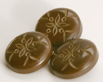 vintage buttons chocolate brown bakelite