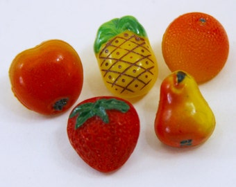 Vintage Glass Buttons - Tutti Frutti