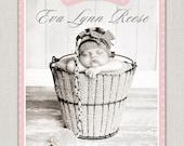 Baby Girl Birth Announcement - Eva