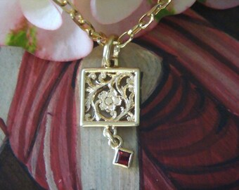 Gold Pendant, Mahawan Pendant in Solid 18K Gold, Handmade Original Design (Made to Order)