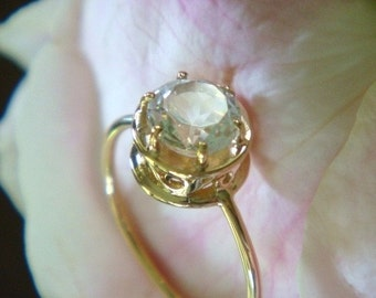 Christie Ring in 18k Gold with Natural Colorless Topaz, Made to Order