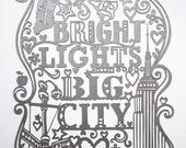 City Series no.2 - New York City. Laser-cut.