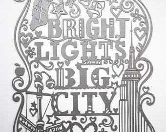 Lasercut. New York City - Silver