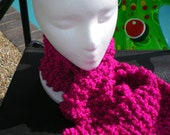 Berry Pink Magenta Soft Chunky Scarf