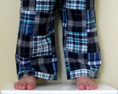 Last Pair . Boy Patchwork Pants . Shorts . Modern . Navy Blue . Sizes 6m, 12m or 2T Only