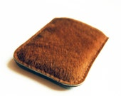 Stylish iphone case in brown ponyhide skin