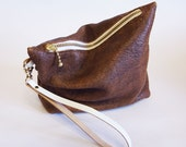 Brown leather pouch (small)