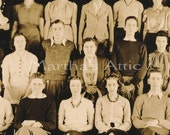 High School Class Photograph   -Vintage 1939-1940