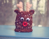 Rudolph hat- (newborn) NEW design Ready to ship Sale