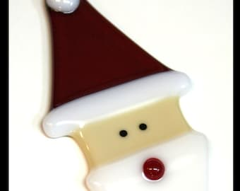 Glassworks Northwest - Santa - Fused Glass Ornament