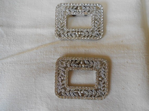 Stunning Art Deco and Marcasite Shoe or Dress Clips