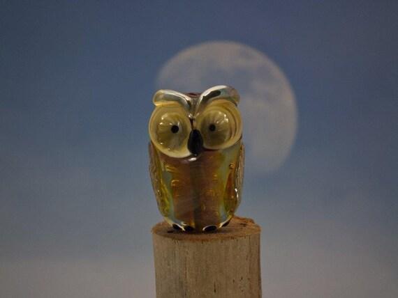 Vera.... lampwork owl bead... sra