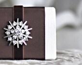 Tiny Snowflake V Mini Blank book Photo album Journal