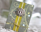 Peridots Posies Blank Accordion Book Woodland Photo Album Fairy Goddess Journal