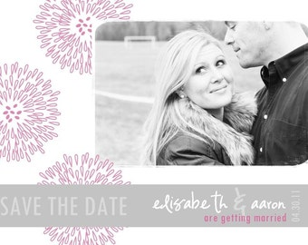 FLOWER LOVE...Custom Photo Save the Date Announcement...by KM Thomas Designs