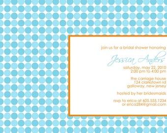 MOD...Custom Baby or Bridal Shower Invitation...by KM Thomas Designs