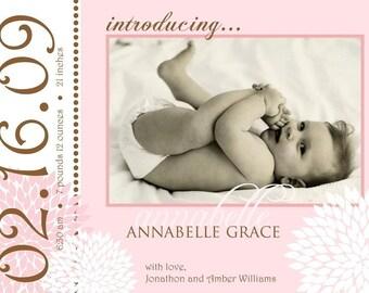DELIGHTFUL - Custom Photo Birth Announcement...by KM Thomas Designs
