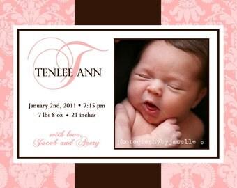 BUNDLE of JOY...Custom Photo Birth Announcement...by KM Thomas Designs