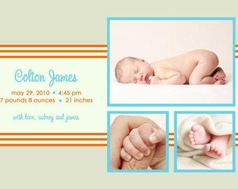 DAYDREAM...Custom Photo Birth Announcement...by KM Thomas Designs