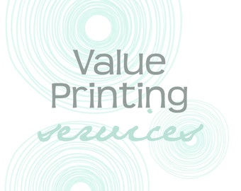 Value Printing Services - 5x7 Folded Cards