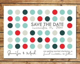 LOVE SPOTTED...Custom Save the Date Announcement...by KM Thomas Designs