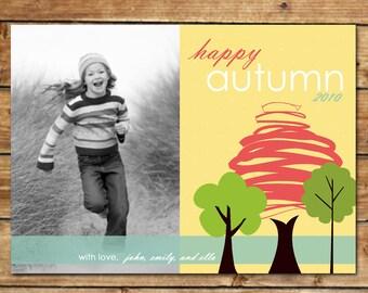 AUTUMN LEAVES...Custom Fall Photo Greeting Card...by KM Thomas Designs