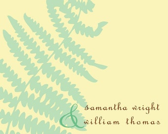 SIMPLE FERN...Printable Custom Save the Date Card...by KM Thomas Designs