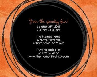 Orange Spooky Halloween Invitation