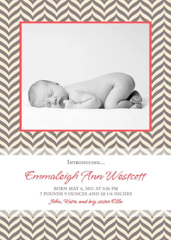 New Life - Custom Photo Birth Announcement...by KM Thomas Designs